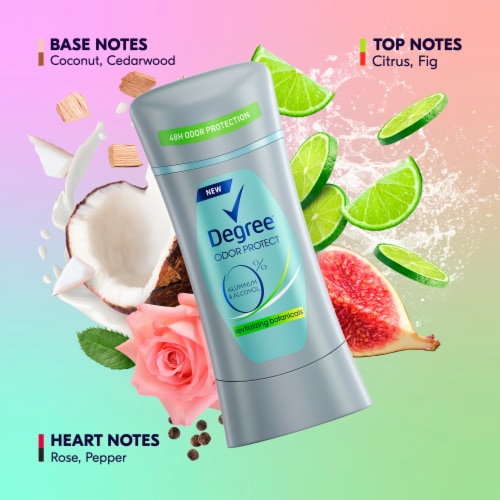 Degree Odor Protect Revitalizing Botanicals Aluminum Free Deodorant Stick Perspective: right