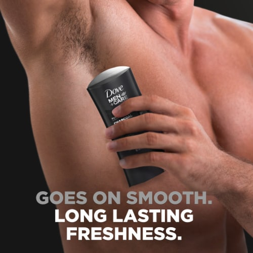 Dove Men+Care 48-Hour Sweat & Odor Protection Charcoal Antiperspirant Deodorant Stick Perspective: right