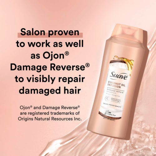 Suave® Professionals Coconut Oil Infusion Damage Repair Shampoo for Damaged Hair Perspective: right