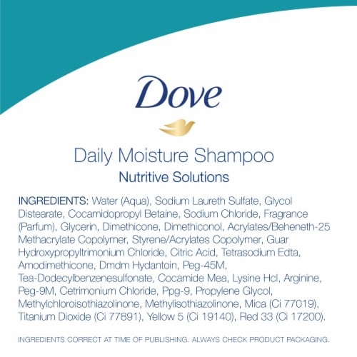 Dove Daily Moisture Shampoo with Pro-Moisture Complex for Normal to Dry Hair Perspective: right
