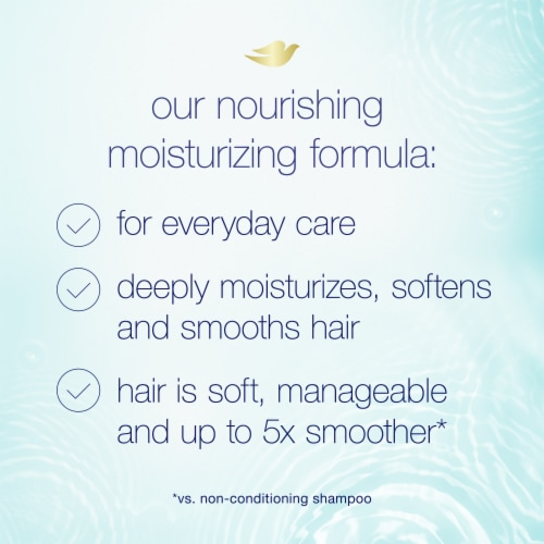 Dove Nutritive Solutions Daily Moisture Conditioner with Pro-Moisture Complex for Normal to Dry Hair Perspective: right