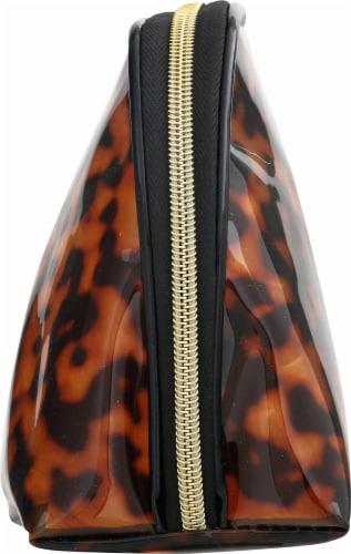 Sophia Joy Round Top Cosmetic Bag - Tortoise Perspective: right