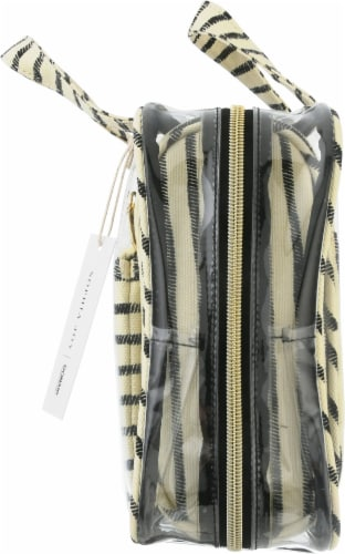 Sophia Joy Striped Makeup Tote Bag Perspective: right