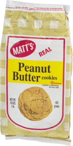 Matt's Real Peanut Butter Cookies Perspective: right