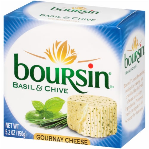 Boursin Basil and Chive Gournay Cheese Perspective: right