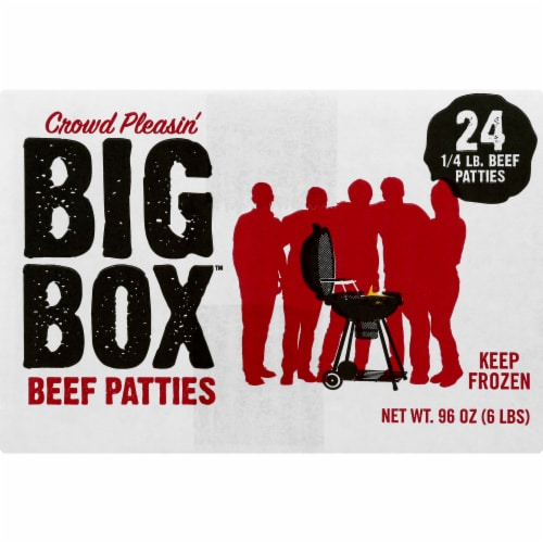 Holten Meats Big Box Beef Patties 24 Count Perspective: right