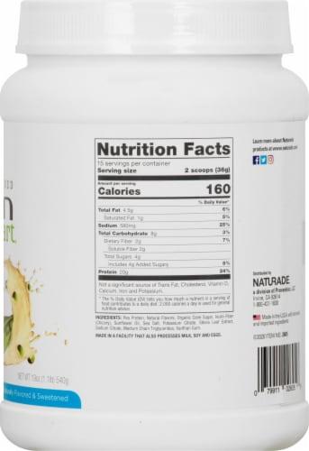 Naturade Pea Protein Vanilla Vegan Shake Perspective: right