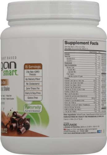 Naturade Vegan Smart All-in-One Chocolate Nutritional Shake Perspective: right