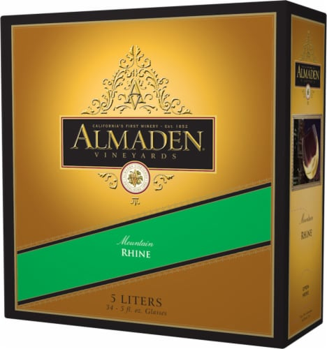 Almaden Mountain Rhine Boxed Red Wine Perspective: right
