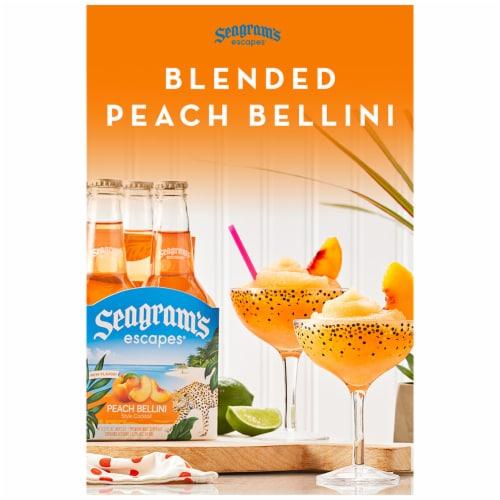Seagram's Escapes Peach Bellini Style Cocktail Malt Beverage Perspective: right