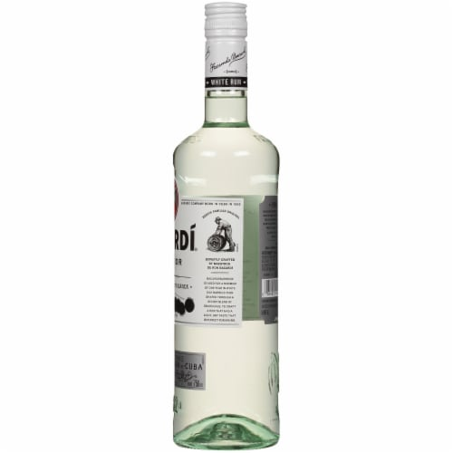 Bacardi Superior Puerto Rican White Rum Perspective: right