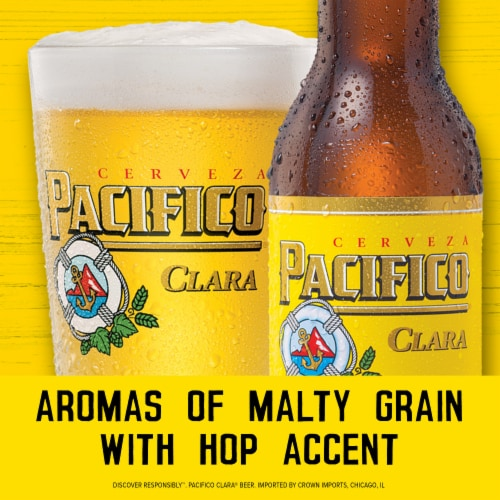 Pacifico Clara Imported Beer Perspective: right