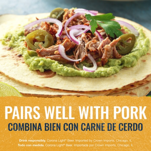 Corona Light Mexican Lager Beer Perspective: right