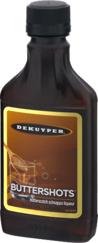 DeKuyper Buttershots Butterscotch Schnapps Liqueur Perspective: right