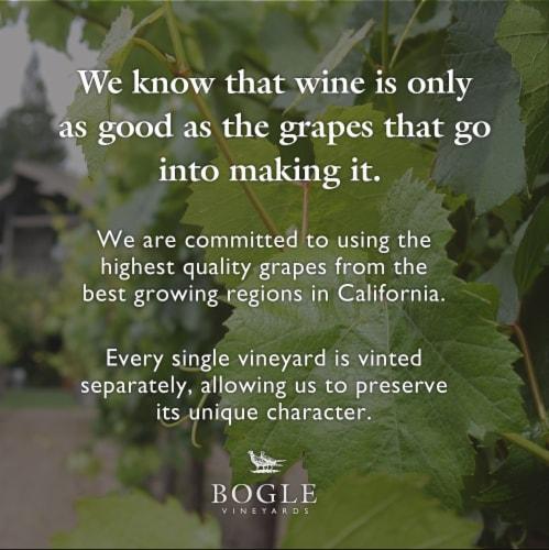 Bogle Vineyards Merlot Red Wine Perspective: right