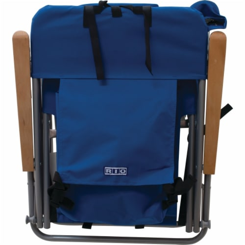 Rio Brands Blue Canvas Backpack Folding Chair SC527-28PK6 Perspective: right