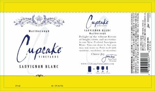 Cupcake Vineyards Sauvignon Blanc White Wine Perspective: right
