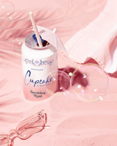 Cupcake Vineyards Sparkling Rose Wine Perspective: right