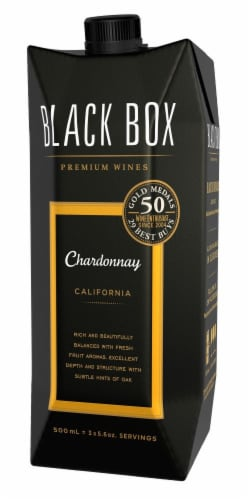 Black Box Chardonnay Go Pack White Wine Perspective: right