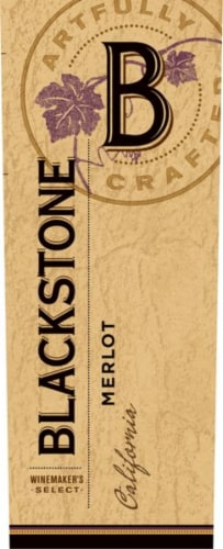 Blackstone Winemakers Select Merlot Red Wine Perspective: right