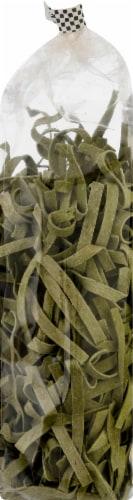 Al Dente Spinach Fettuccine Noodles Perspective: right