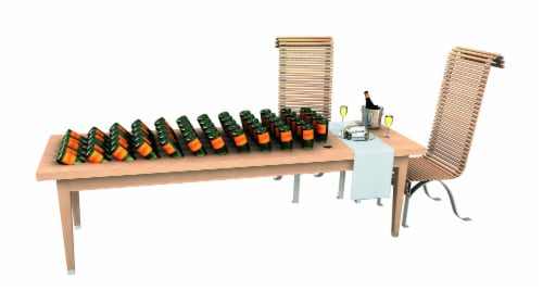 Veuve Clicquot Yellow Label Brut Champagne Perspective: right