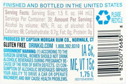 Captain Morgan White Rum Perspective: right