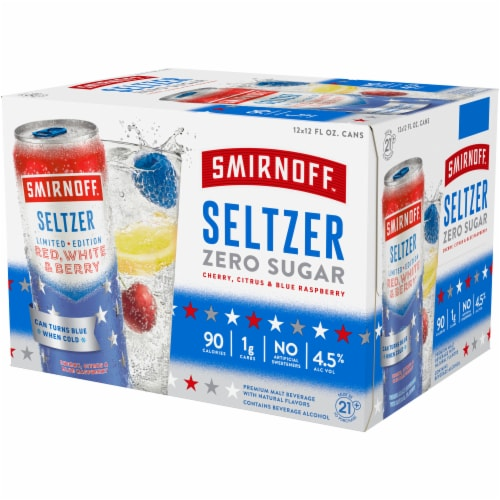 Smirnoff Red White & Berry Seltzer Perspective: right