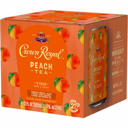Crown Royal Peach Tea & Canadian Whisky Cocktail Perspective: right