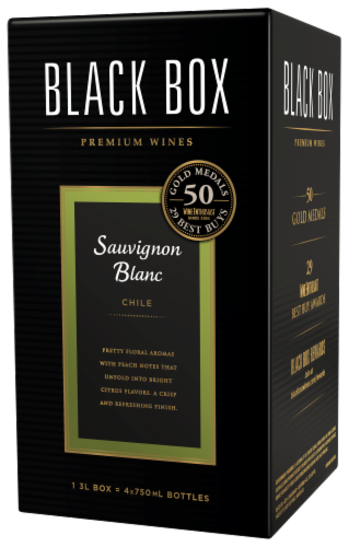 Black Box Sauvignon Blanc White Wine Perspective: right
