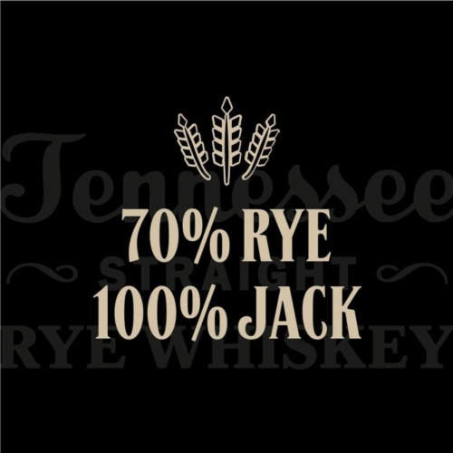 Jack Daniel's® Rye Tennessee Straight Rye Whiskey Perspective: right