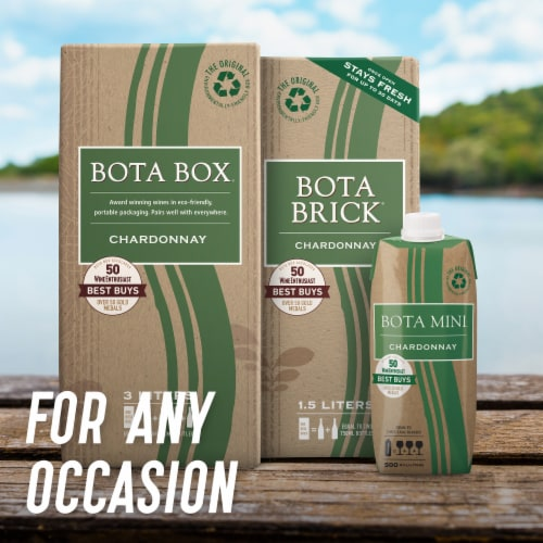 Bota Box Chardonnay White Wine Perspective: right