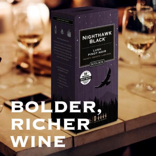 Bota Box Nighthawk Black Lush Pinot Noir Red Wine Perspective: right