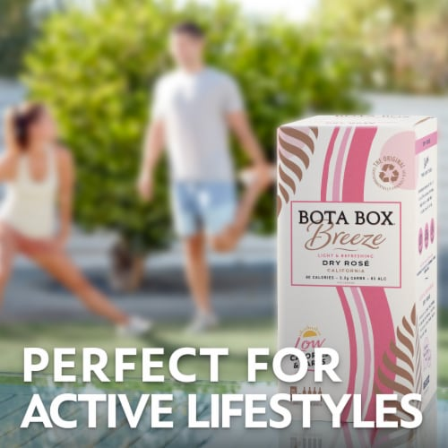Bota Box Breeze Rose Wine Perspective: right