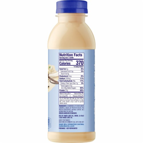 Naked Vanilla Protein Almond Milk Smoothie Perspective: right