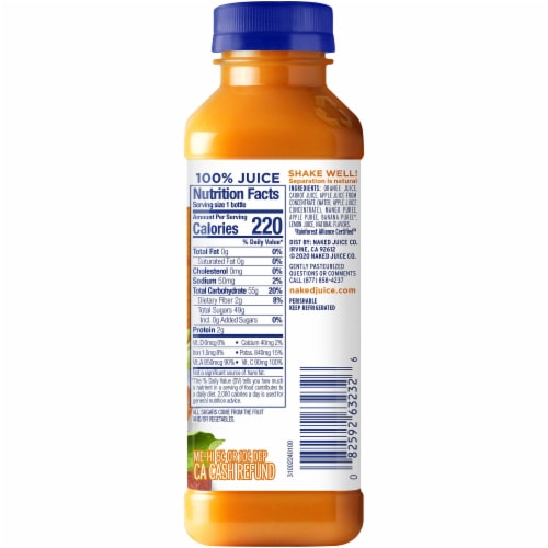 Naked Orange Carrot Mango Juice Blend Perspective: right