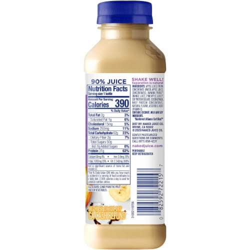 Naked Juice Protein Zone No Sugar Added Protein Juice Smoothie Perspective: right