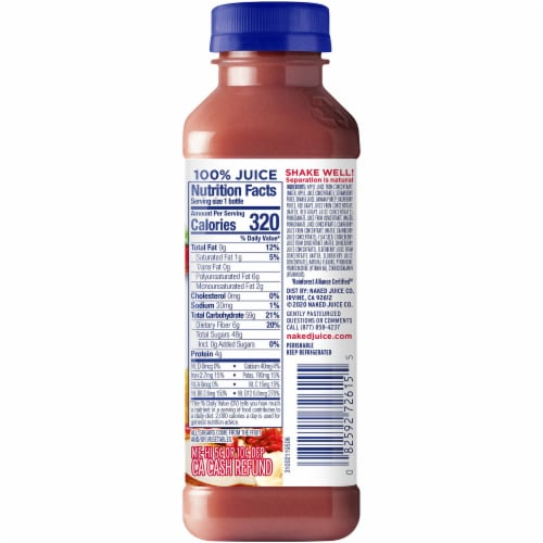 Naked Red Machine Juice Smoothie Blend Perspective: right