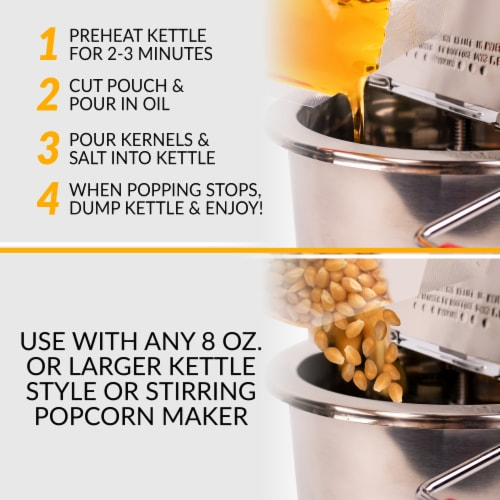 Nostalgia Popcorn Oil & Seasoning Salt All-In-One Packs Perspective: right