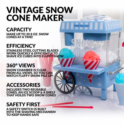 Nostalgia Vintage Snow Cone Maker Perspective: right