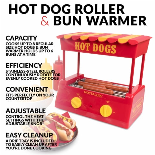 Nostalgia Hot Dog Roller and Bun Warmer Perspective: right