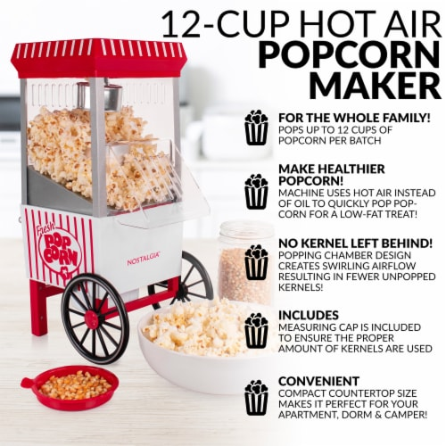 Nostalgia Hot Air Popcorn Maker Perspective: right