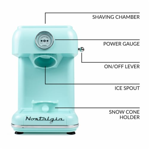 Nostalgia Classic Retro Snow Cone Maker - Aqua Perspective: right