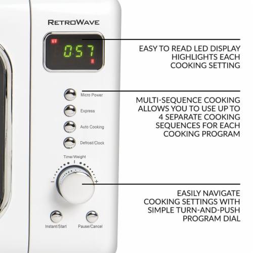 Nostalgia Classic RetroWave Microwave - White/Chrome Perspective: right