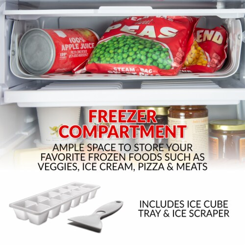 Coca-Cola Refrigerator with Freezer - Black Perspective: right