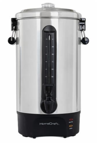 HomeCraft Quick-Brewing Automatic Coffee Urn - Black/Silver Perspective: right