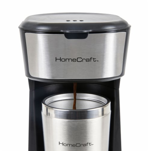 HomeCraft Single Serve Coffee Make with Travel Mug Perspective: right