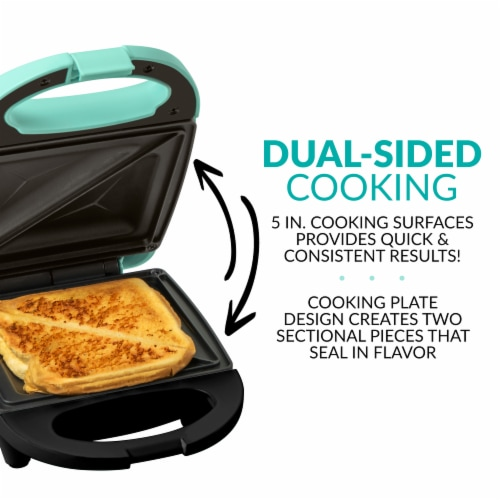 Nostalgia MyMini Personal Sandwich Maker - Turquoise Perspective: right