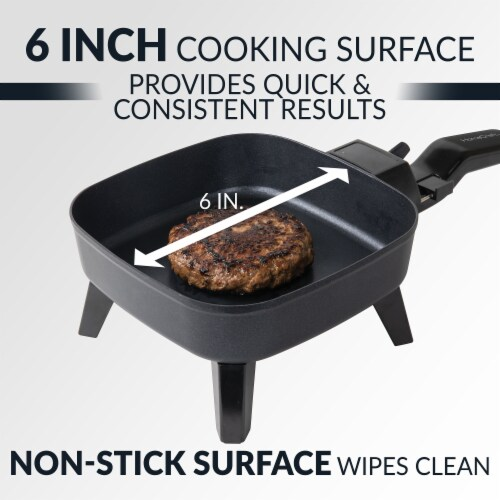 HomeCraft Electric Non-Stick Skillet - Black Perspective: right