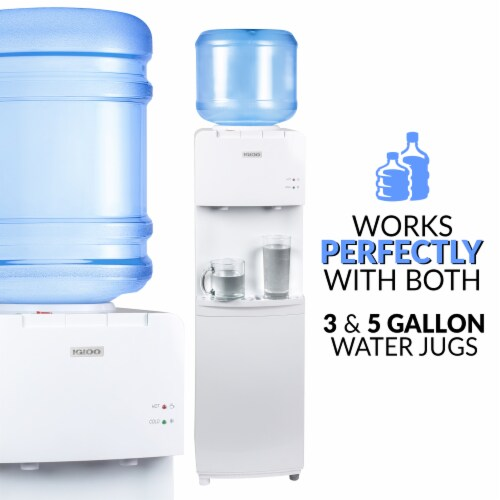 Igloo Hot & Cold Water Top Loading Water Dispenser - White Perspective: right